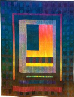 "Art weaving ""Spirit House"" Laura Militzer Bryant"