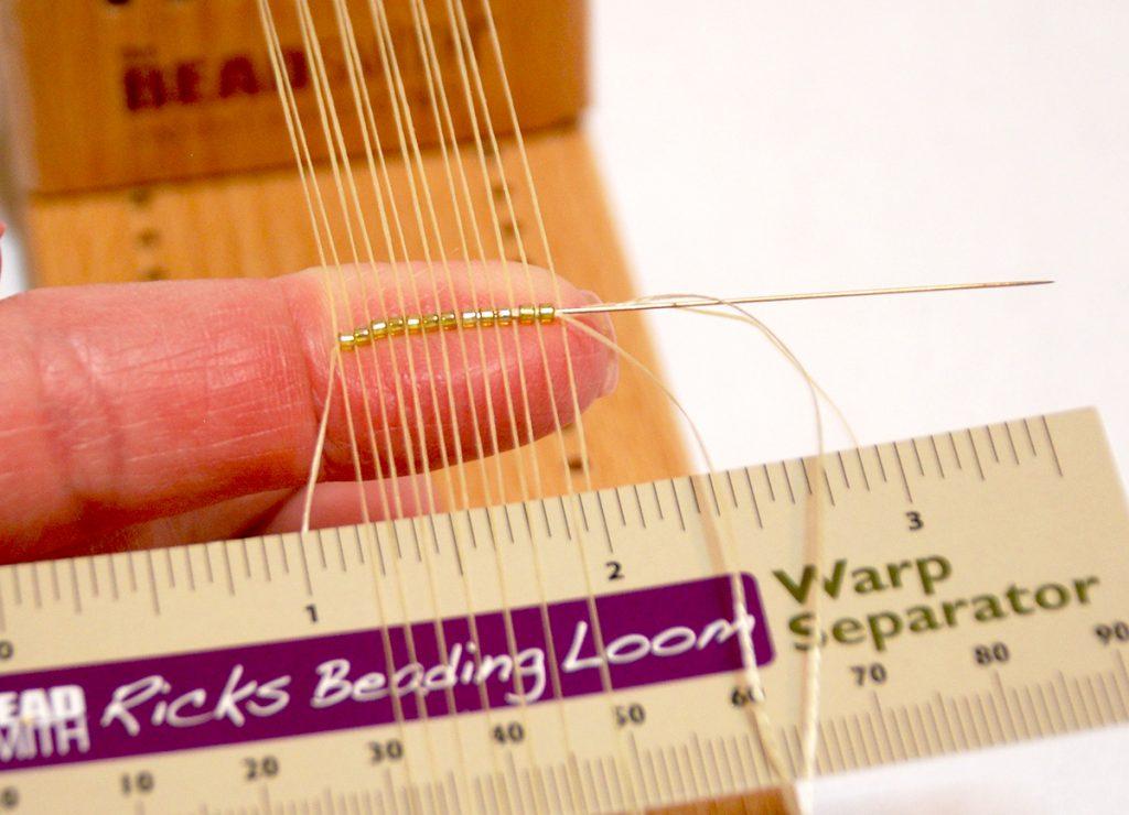 Beading Loom, free bead weaving project by Tammy Honaman. Step 1