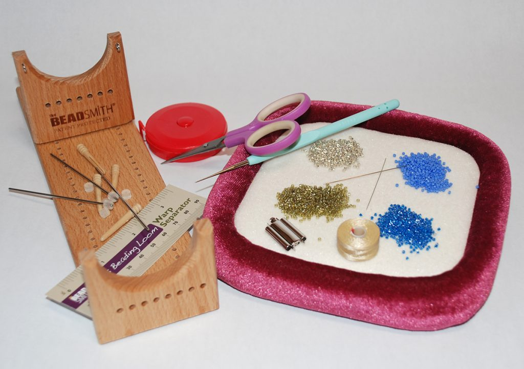 Beading Loom beading materials, free bead weaving project by Tammy Honaman