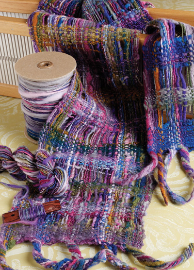 Learn how to make a felted scarf in this free ebook on preparing and felting fiber and yarn.