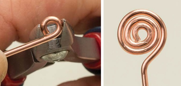 how to make a perfect wire spiral with a perfect circle center