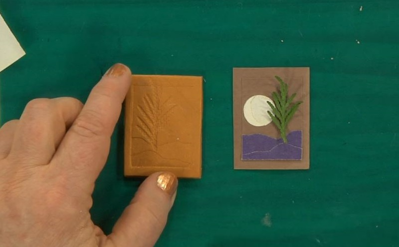 use sandpaper and leaves to create metal clay molds