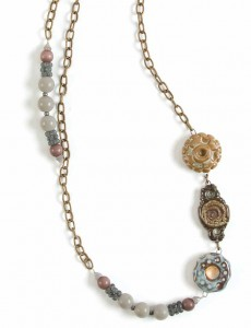 The Funky Romance necklace steampunk jewelry project can be found in our free How to Make Steampunk Jewelry eBook.