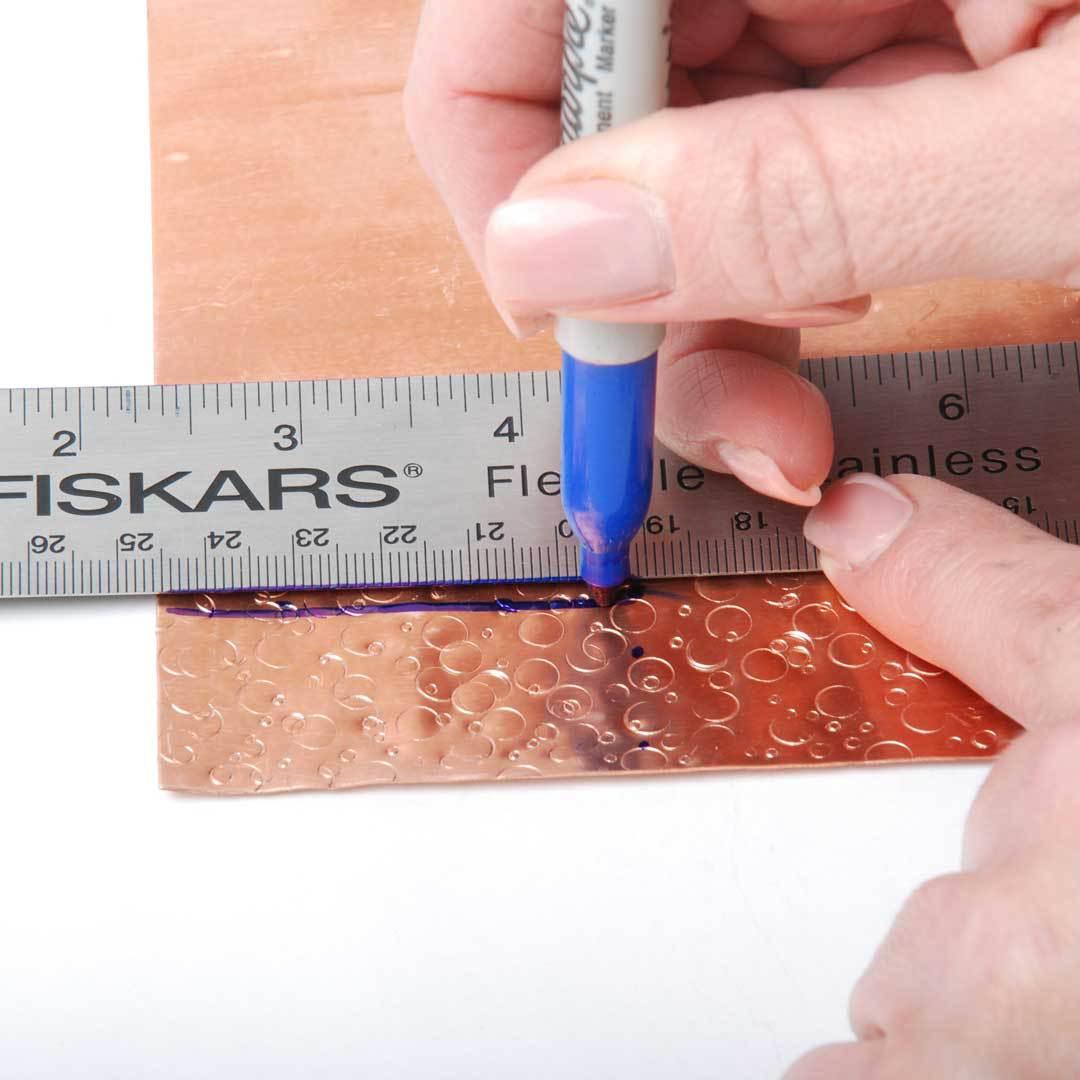 measure metal stamped sheet