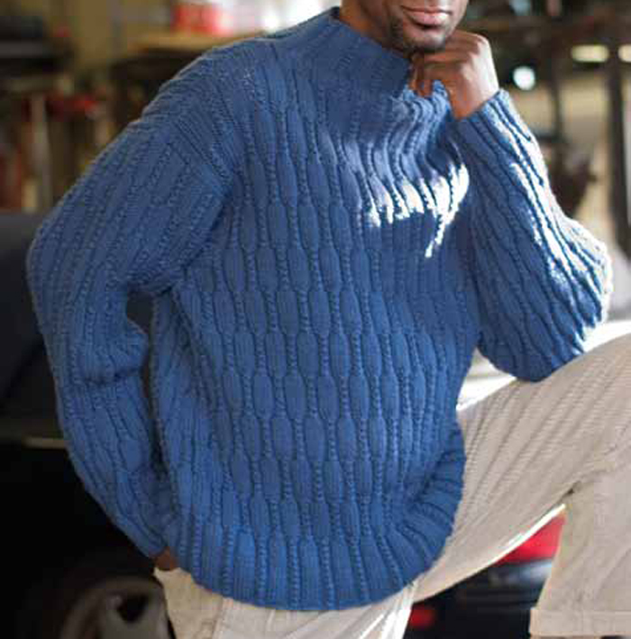 707289eabac5 Learn how to knit cables with this free men s cable knitting sweater  pattern  Anniversary Pullover