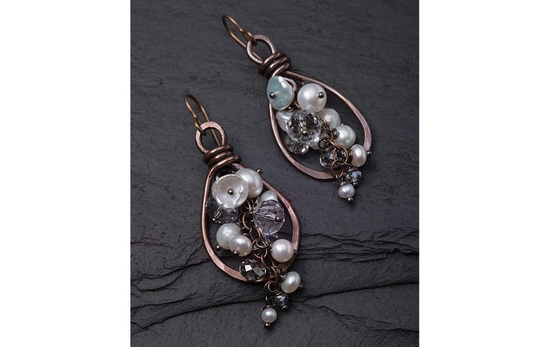 explore wirework and metalsmithing with the Lasso Earrings by Tracy Stanley