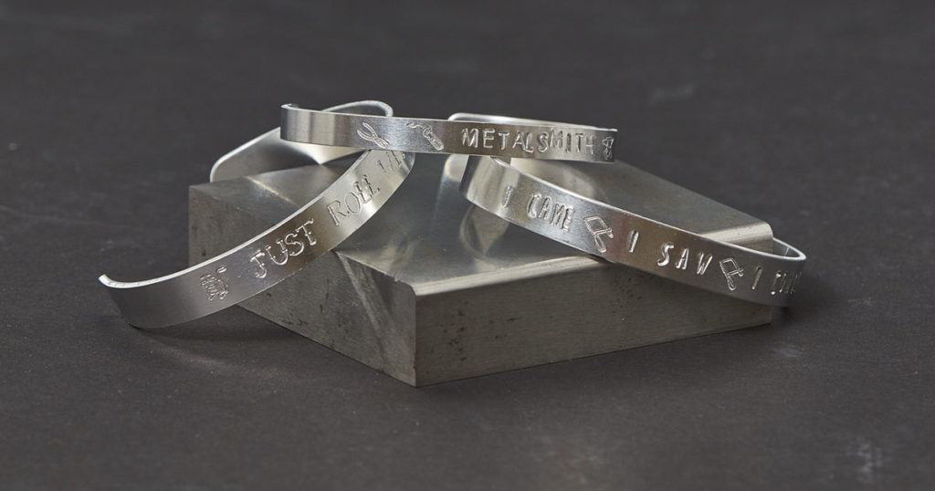 Metal Stamping Bracelets: Wear Your Tools on Your Sleeve