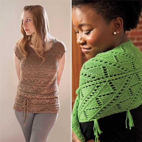 Minnow Top lace knitting pattern