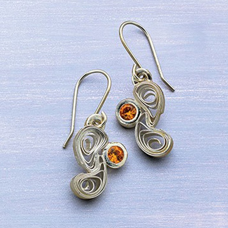 mixed media jewelry: quilled earrings