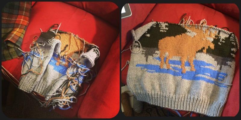 WIP Wednesday: Making a vintage moose jacket!