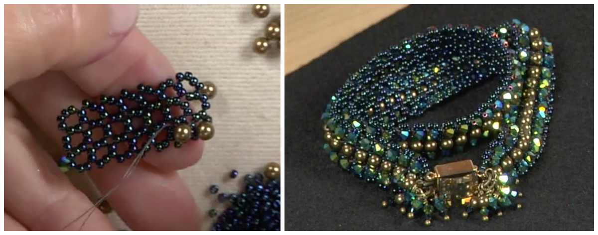 In this variation, Marcia teaches how to create RAW units with two beads per side.