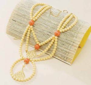 Create a very artful look with this multi-strand bead stringing project.