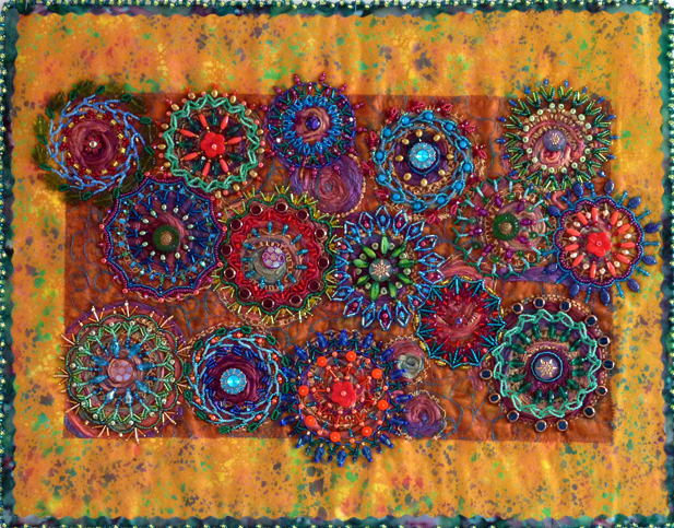 Bead Embroidery, Beaded Fabric, Beaded Quilts, Beading Techniques