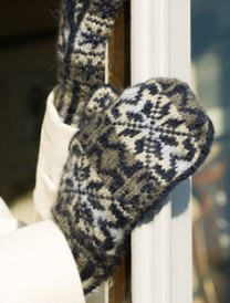 The Narnia White Witch Mittens are fair isle colorwork mitts and step-by-step instructions can be found in our free Color Knitting Patterns eBook.