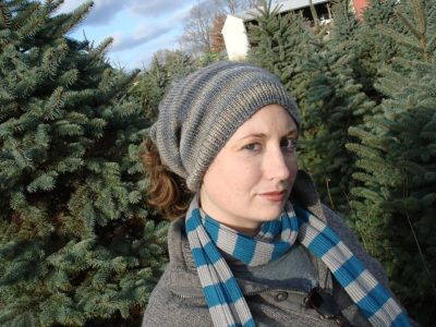 The Neck Warmer Hat can be worn as a cowl or hat, thanks to the opening on top that cinches with a drawstring