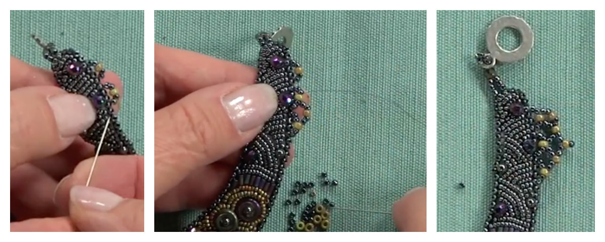 Netted fringe can be added in a single row, in multiple rows, or embellished with point beads.