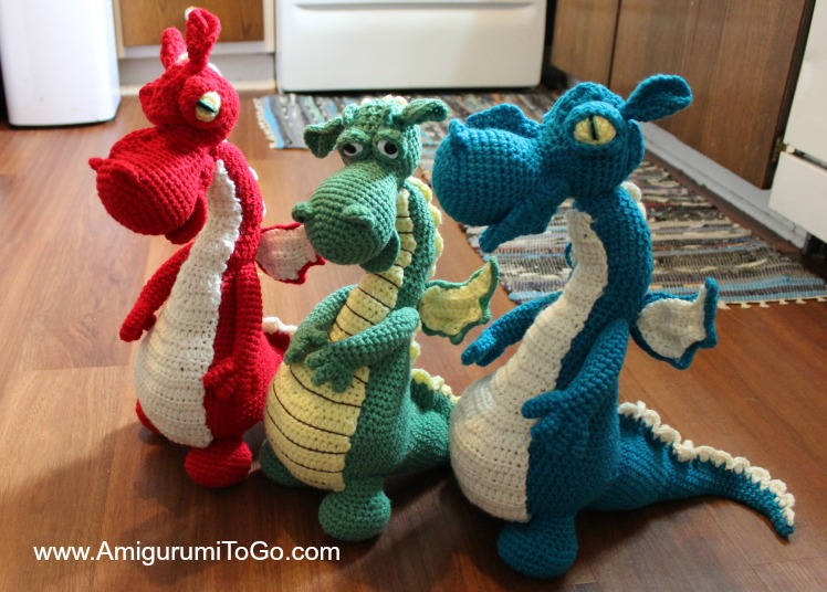 This fire breathing crochet amigurumi dragon is the perfect pet.