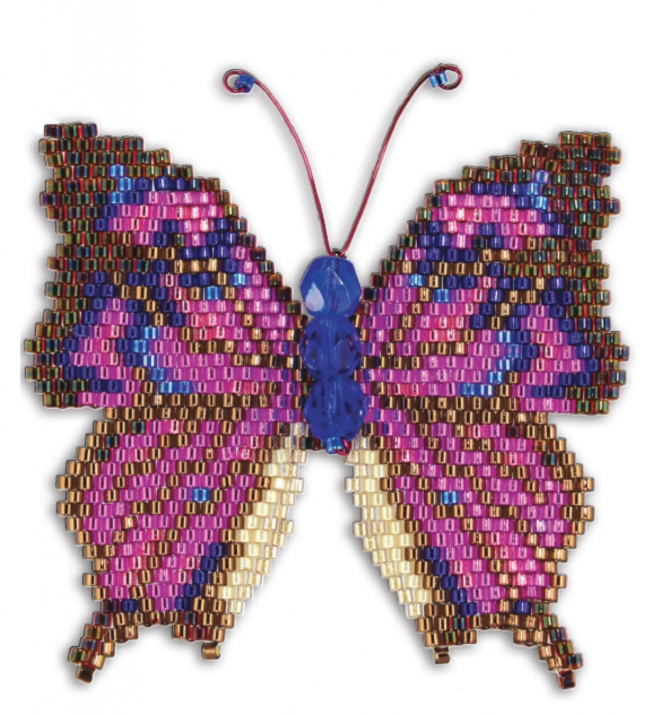 Beads, Brick Stitch, Butterflies, and Bees