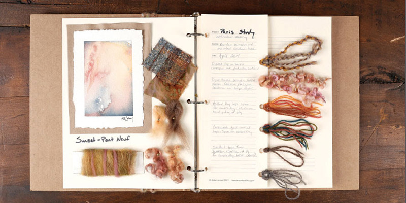 With a lovely notebook like this one of Kate Larson's, keeping track of a projects feels more like an art project and less like homework.