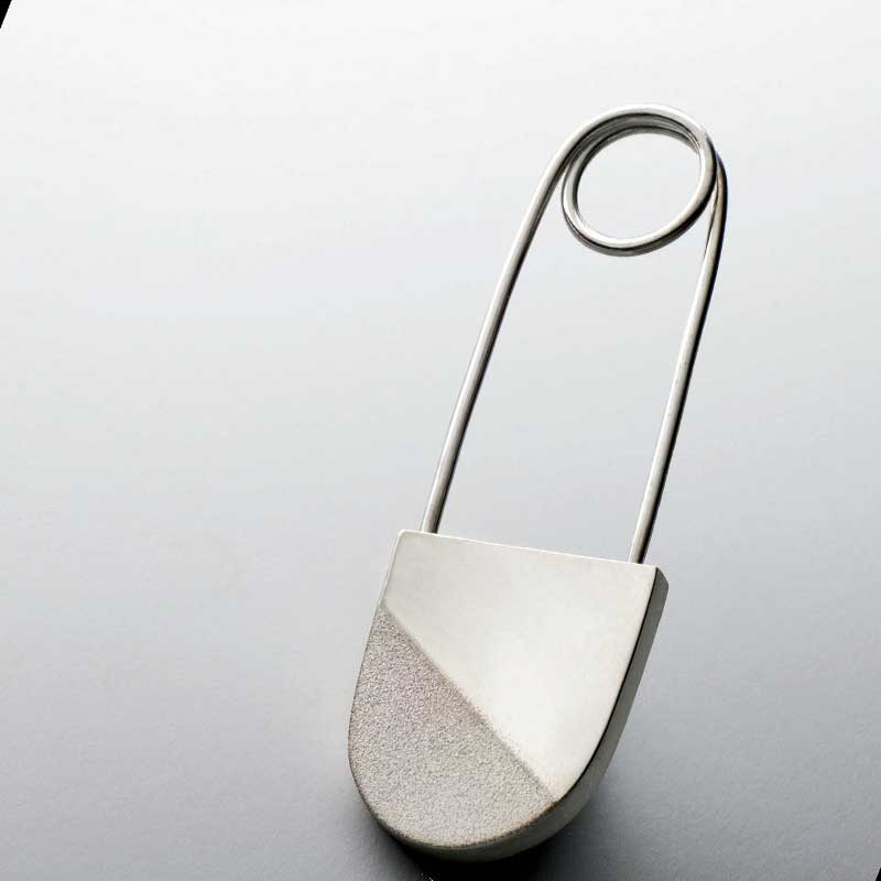 Novika sterling silver safety pin as a great special gift for the jewelry maker on your holiday gift list.