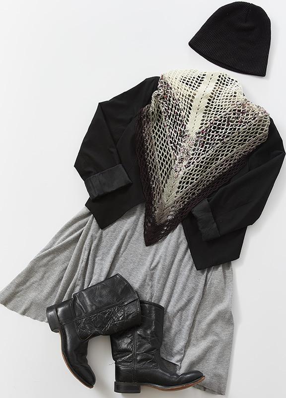 gingko shawl