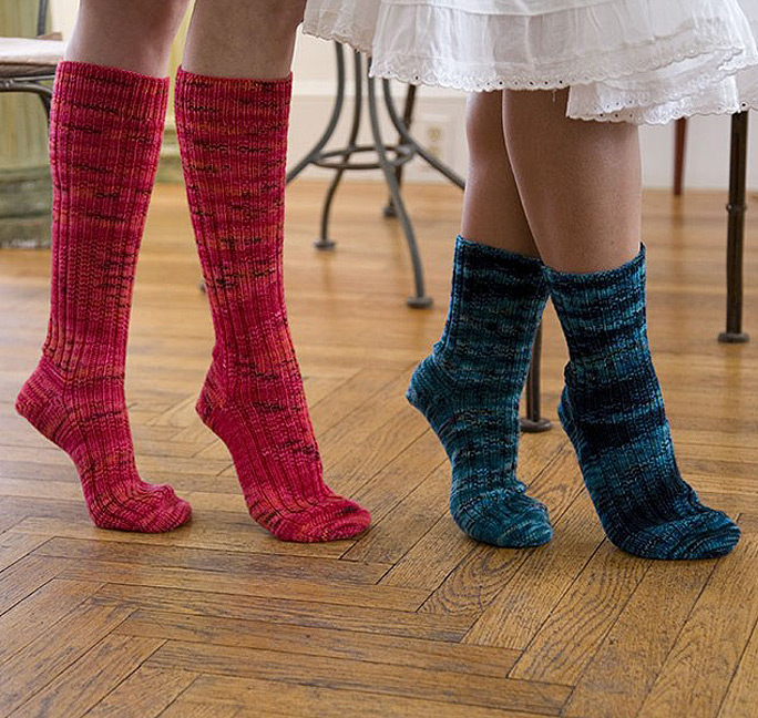 On Your Toes Free sock knitting pattern.