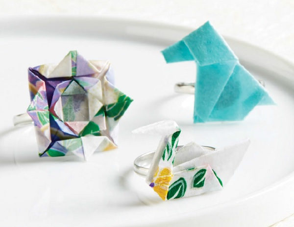 learn to make origami paper jewelry rings