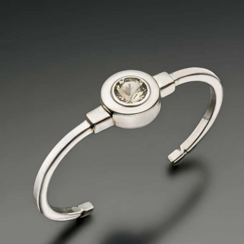 Sterling and Citrine Cuff by Sam Patania