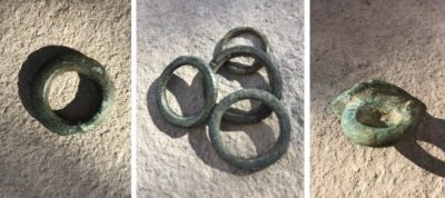 natural green patina on horse tack rings
