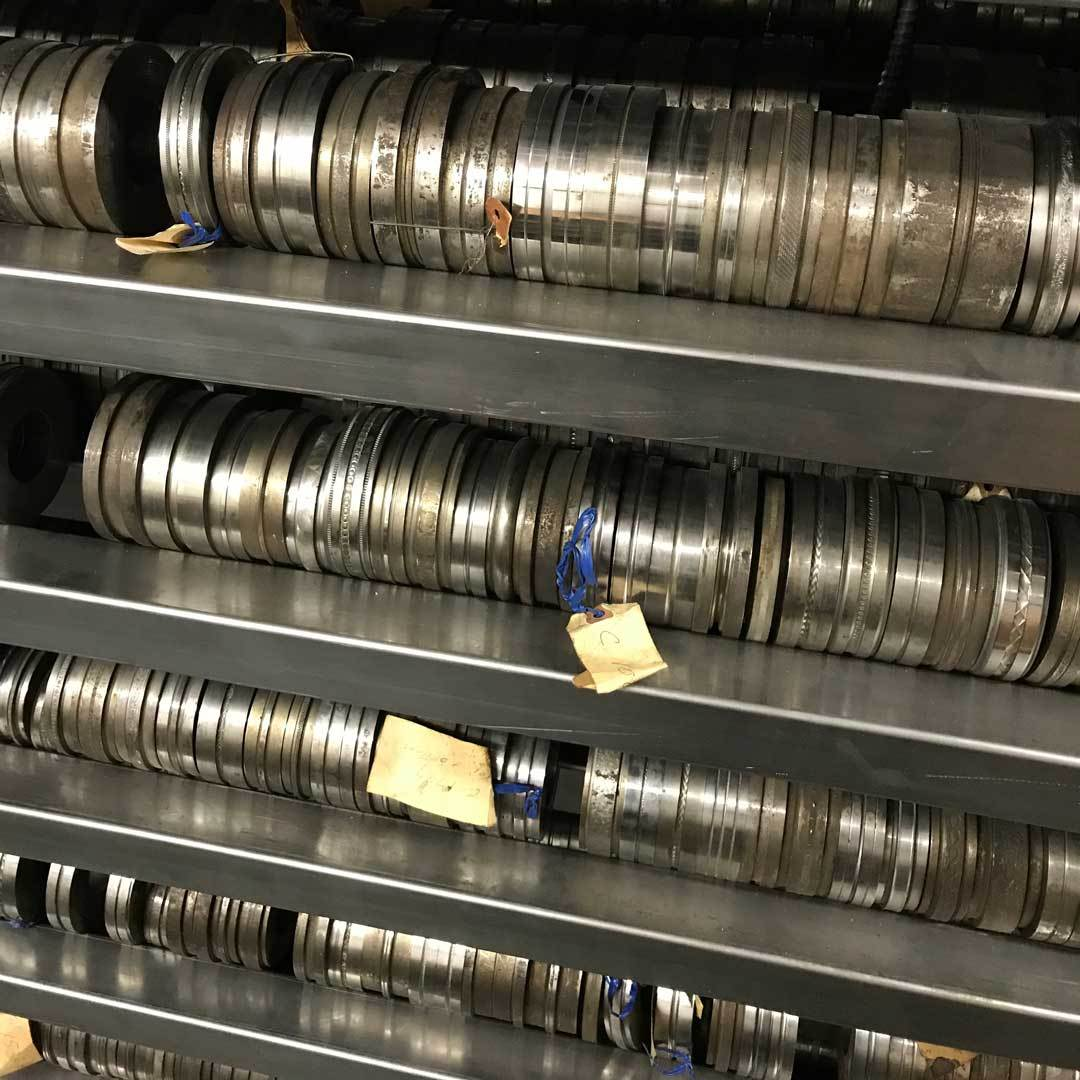 Kevin Potter of Potter USA hosted an open house – this is a small sampling of new pattern rollers he has in his shop.