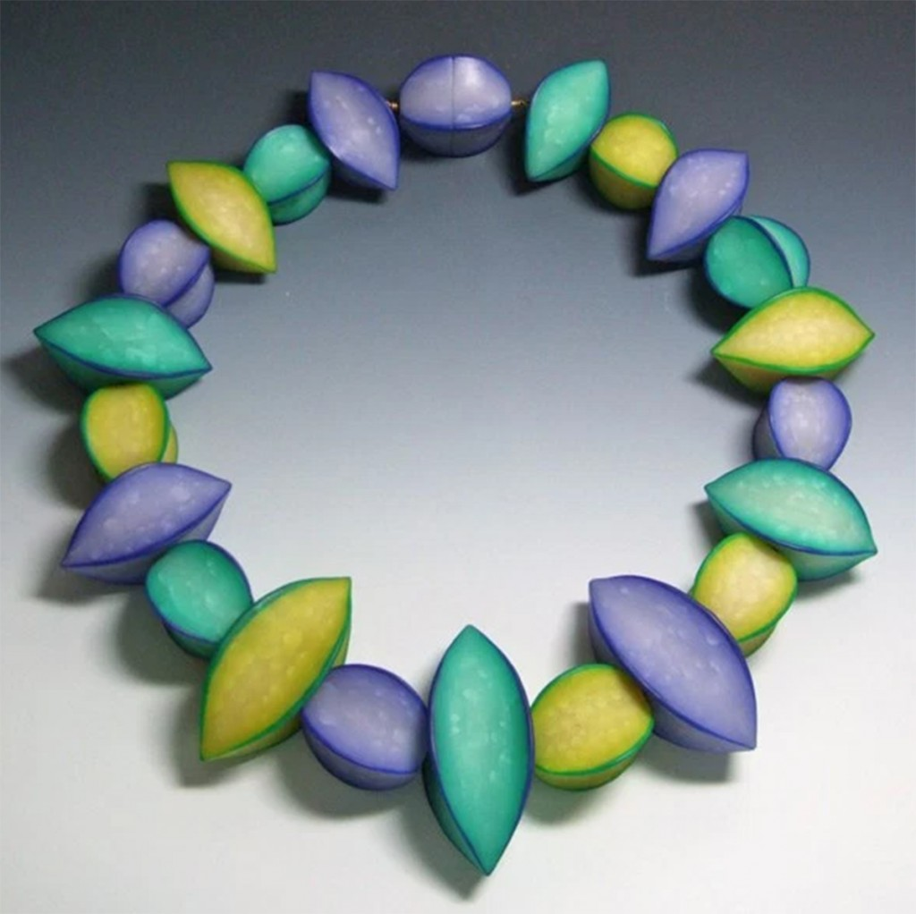"""""""Star Fruit Bead Necklace,"""" by Pier Voulkos, 1996"""