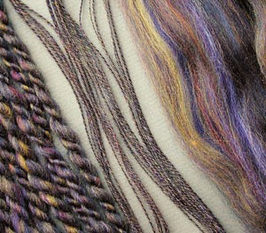 """The colorful yarn in this picture is featured in the """"A Closer Look"""" article within our free How to Ply Yarn eBook."""