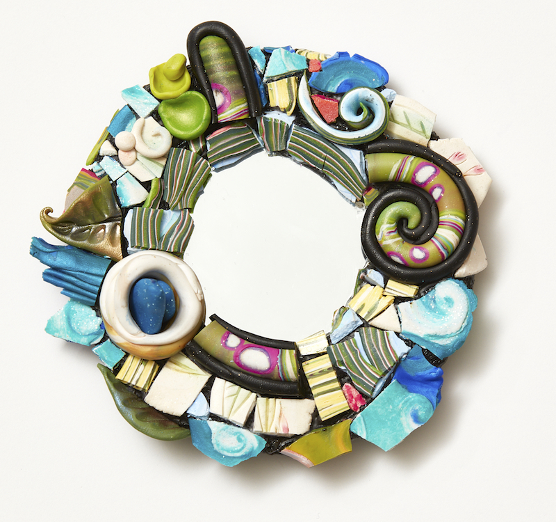 polymer clay mosaic by Christi Friesen