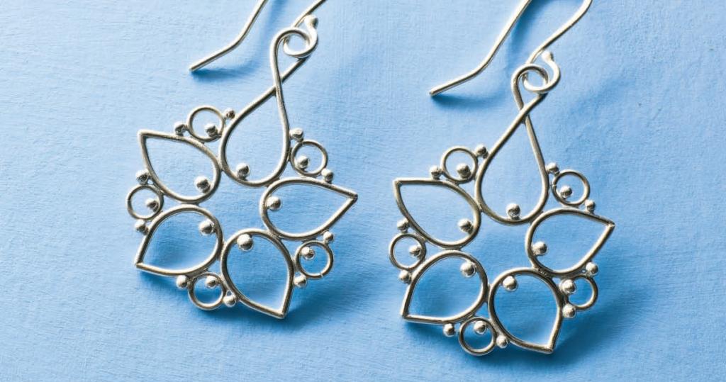 Argentium Filigree Earrings by Betsy Porter