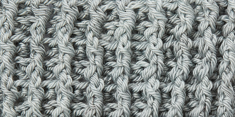 create crochet ribbing