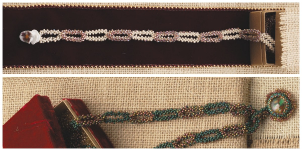 These double-layered chain links were created with right-angle weave.