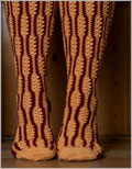 Crochet these non-traditional knee socks for a unique change of pace.