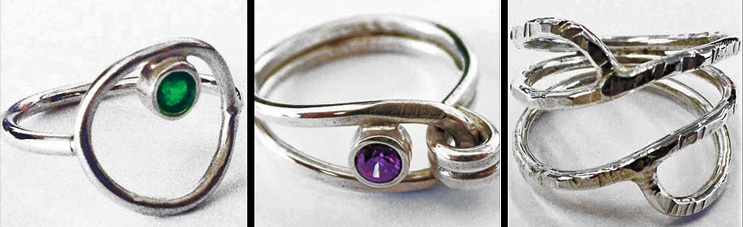 Simple Soldered Rings by Eva Sherman at Bead Fest