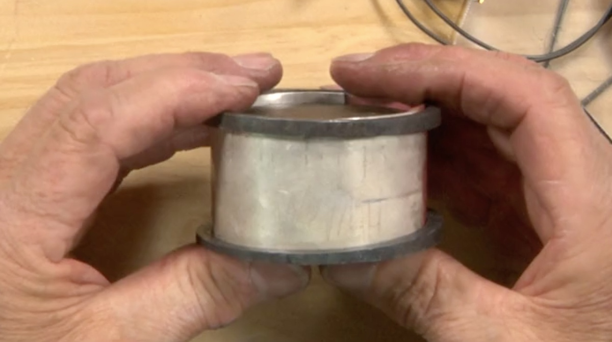 It's imperative that the steel rings fit over your metal before pressing the cuff.