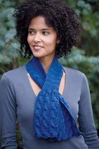 Rittenhouse Scarf: Free knitting pattern for reversible cables.
