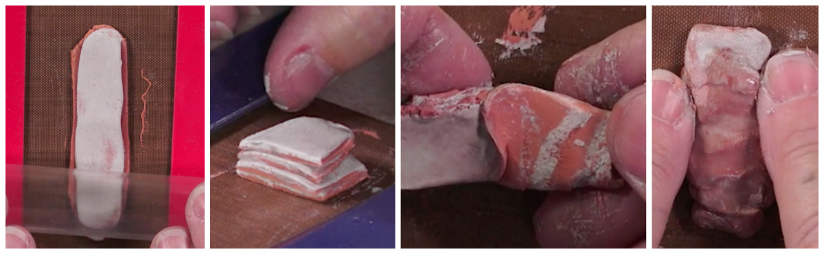 Roll, stack, twist, compress: Jackie teaches you how to manipulate the clay to achieve beautiful patterns.