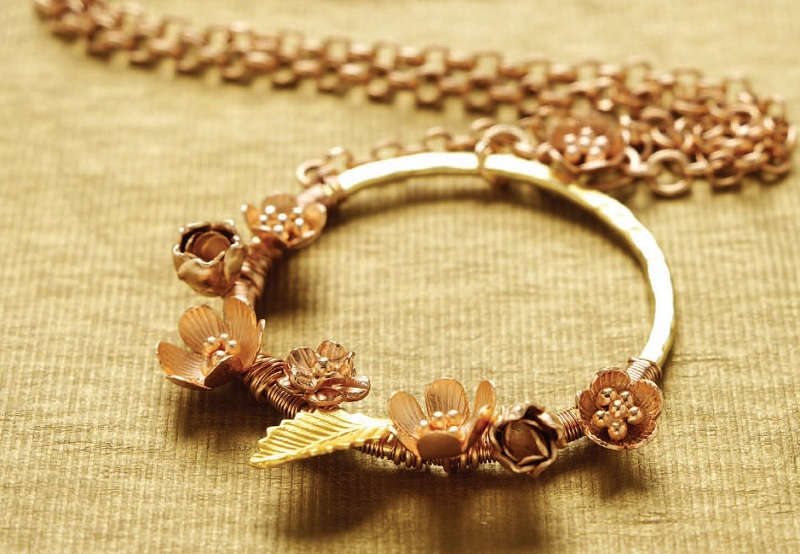 Rosy Posies rose gold jewelry pendant project