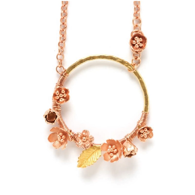 Rosy Posies rose gold jewelry pendant how to