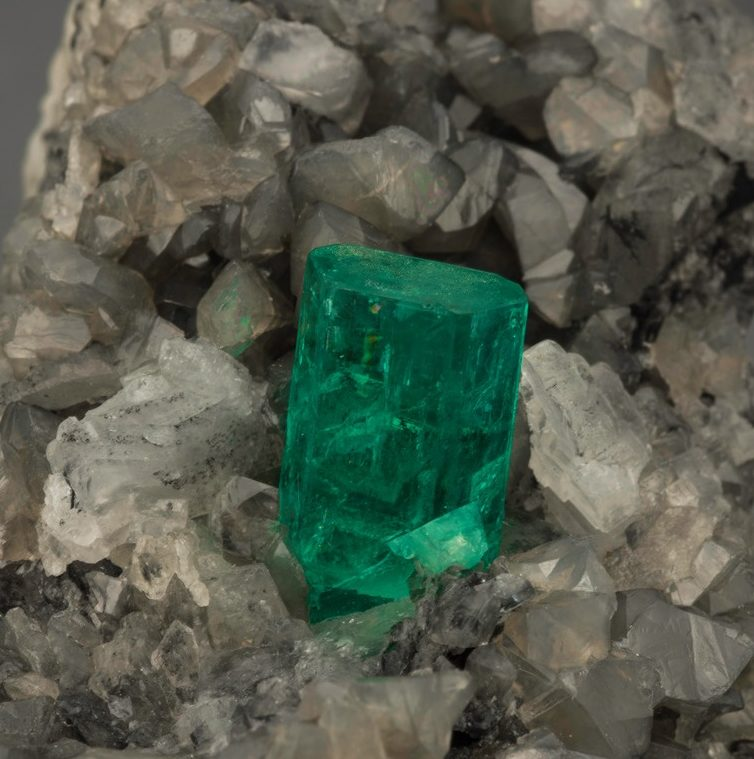 Imagine being the miner who came across this exquisite 7 cm (approximately 2.75 inches) long emerald crystal! Photo Mia Dixon, courtesy Pala International.