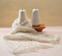 Collapse Weave Scarf with High Energy Meriono Wool by Anne Field