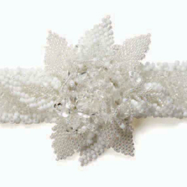 The Snow Fairy Bracelet is a beading bracelet pattern found in our free Beading Patterns for Seed Beads eBook.