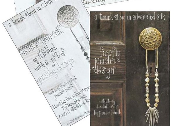use trunk show postcards to promote handmade jewelry sales