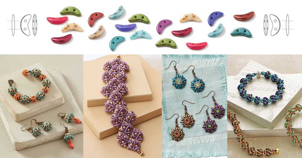 crescent beads shaped beads