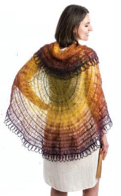 Swirling Shell Shawl by Jennifer Raymond