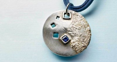 Shooting Sapphire Pendant by Tammy Honaman, Easy Metal Clay